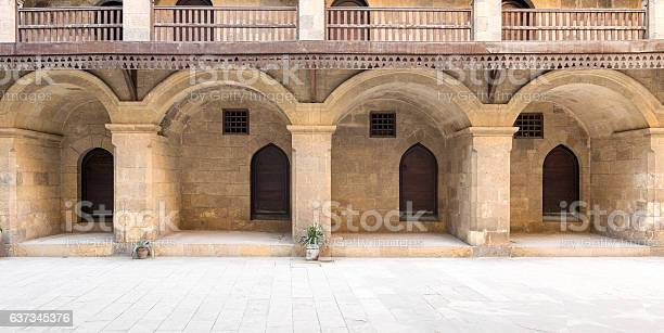 Facade Of The Ground Floor Of Caravansary Of Bazaraa Stockfoto en meer beelden van Afrika