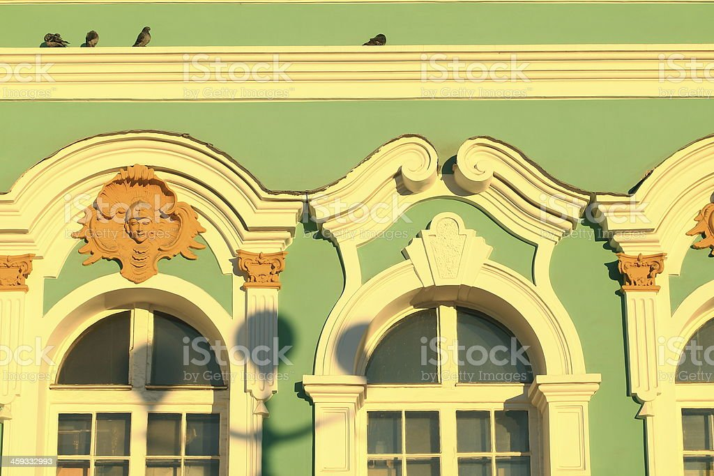 facade of the Hermitage detail stock photo