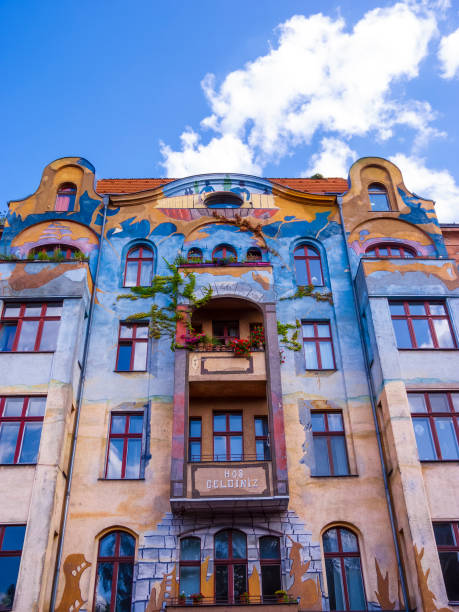 Facade of the Hos Geldiniz building in the Kreuzberg, Germany stock photo