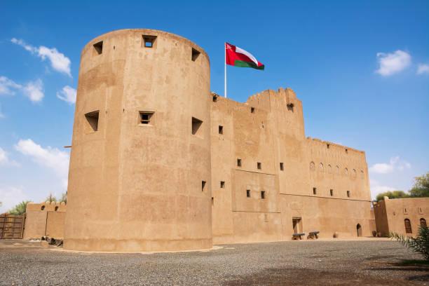 Fassade des Jabrin Forts in Bahla (Oman) – Foto