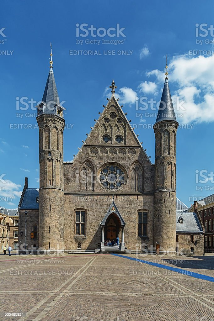Facade of the Knights' Hall in The Hague, Netherlands. stock photo