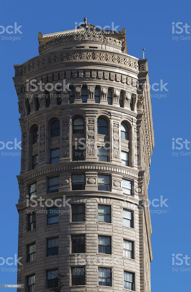 Facade of the old Hobart Building in San Francisco stock photo