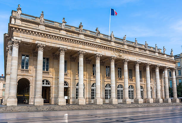 Facade of the opera of Bordeaux, France