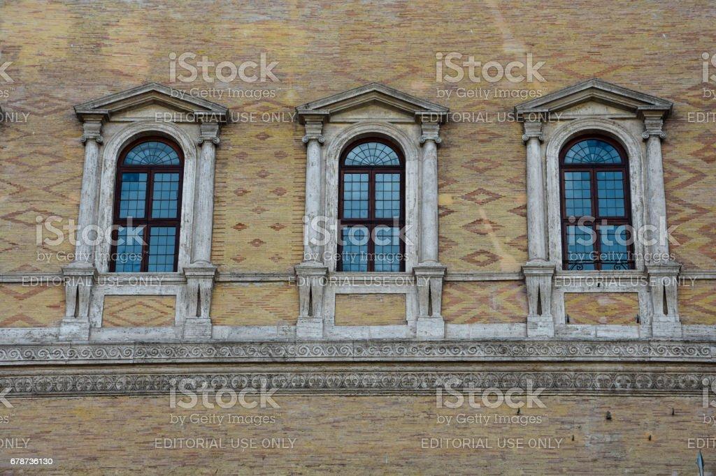 Facade of the Palazzo Farnese (Farnese Palace) royalty-free stock photo