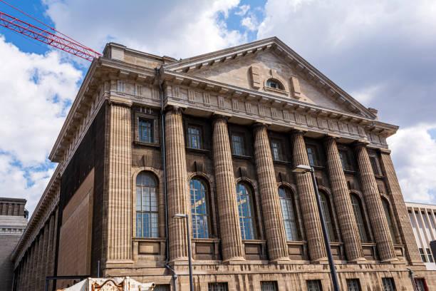 Facade of the Pergammonmuseum in Berlin. stock photo