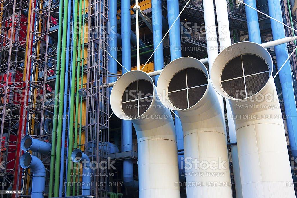 Facade of the Pompidou museum stock photo