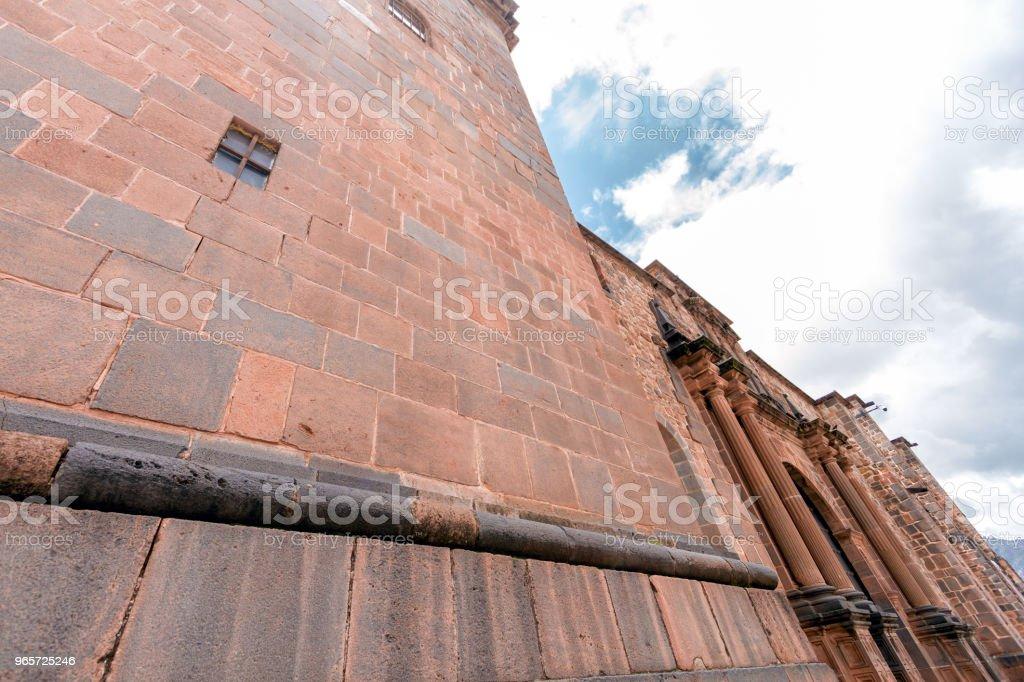 Facade of the Santo Domingo Church next to the Qorikancha in Cusco, Peru - Royalty-free Architectural Column Stock Photo