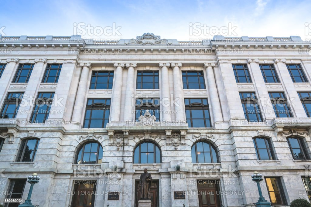 Facade of the Supreme Court of Louisiana building stock photo