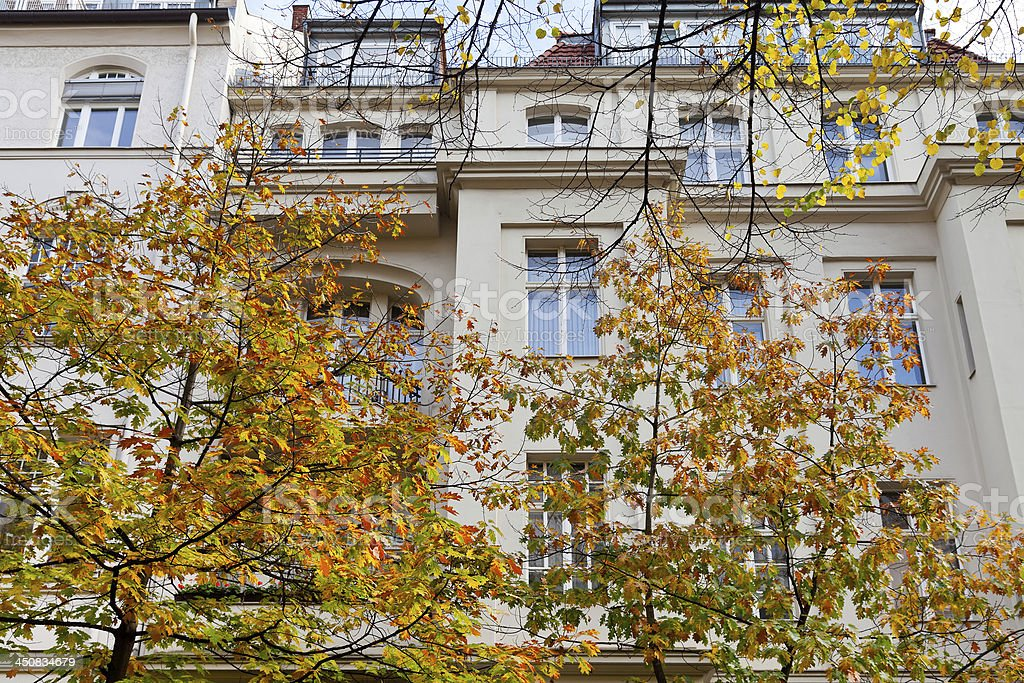 facade of urban mansion 19th century in Berlin royalty-free stock photo