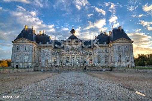 istock Facade of Vaux-le-Vicomte castle at the evening 458232205