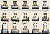 istock Facade with balconies in Madrid 928049096