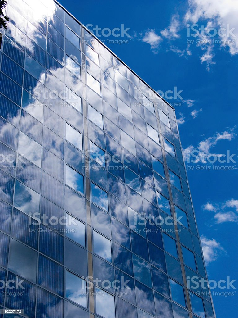 Facade With Solar Panels royalty-free stock photo