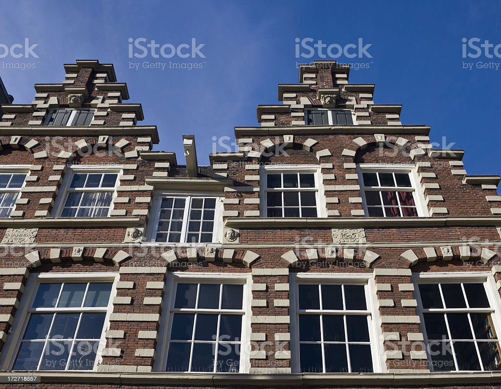 Facades of Amsterdam royalty-free stock photo