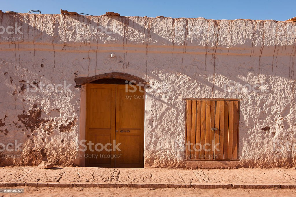 facades of houses in San Pedro de Atacama stock photo