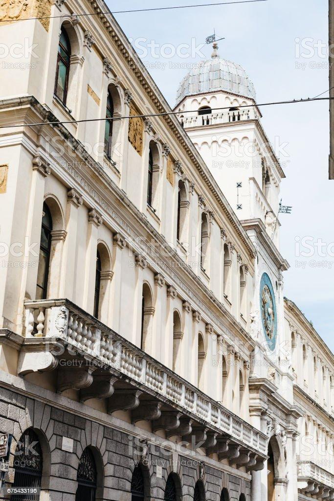 facades of Palazzo del Capitanio in Padua royalty-free stock photo
