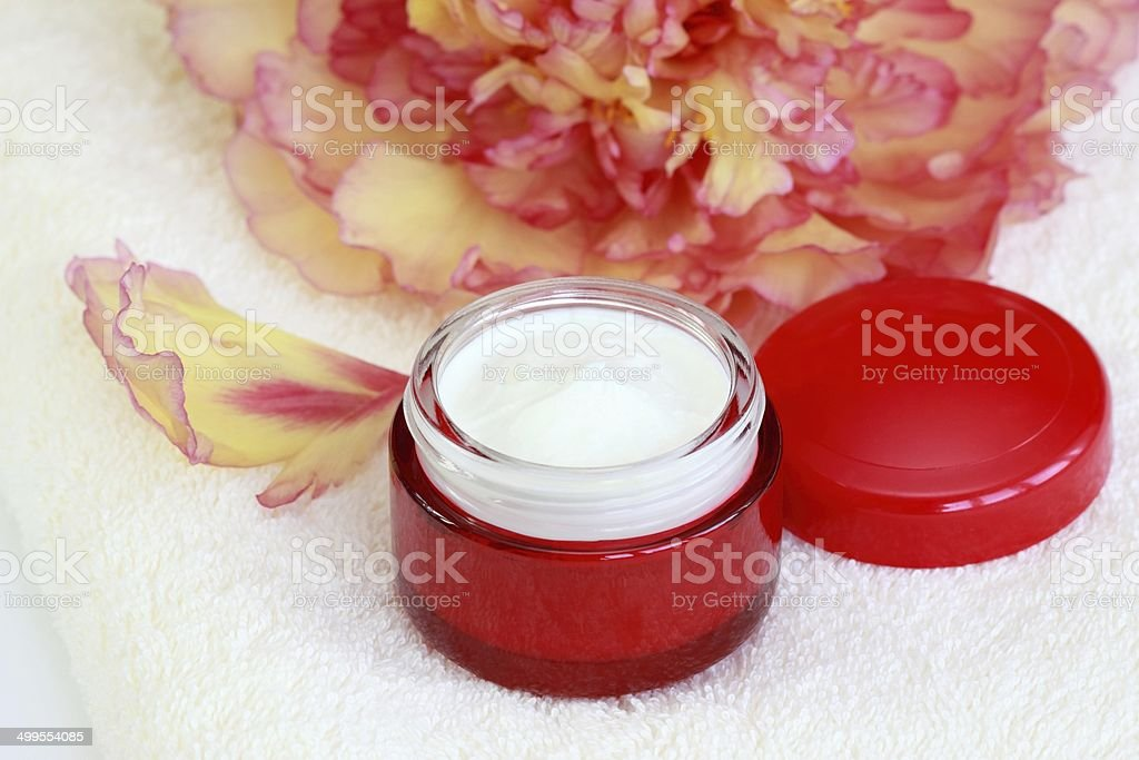 Face and body cream royalty-free stock photo