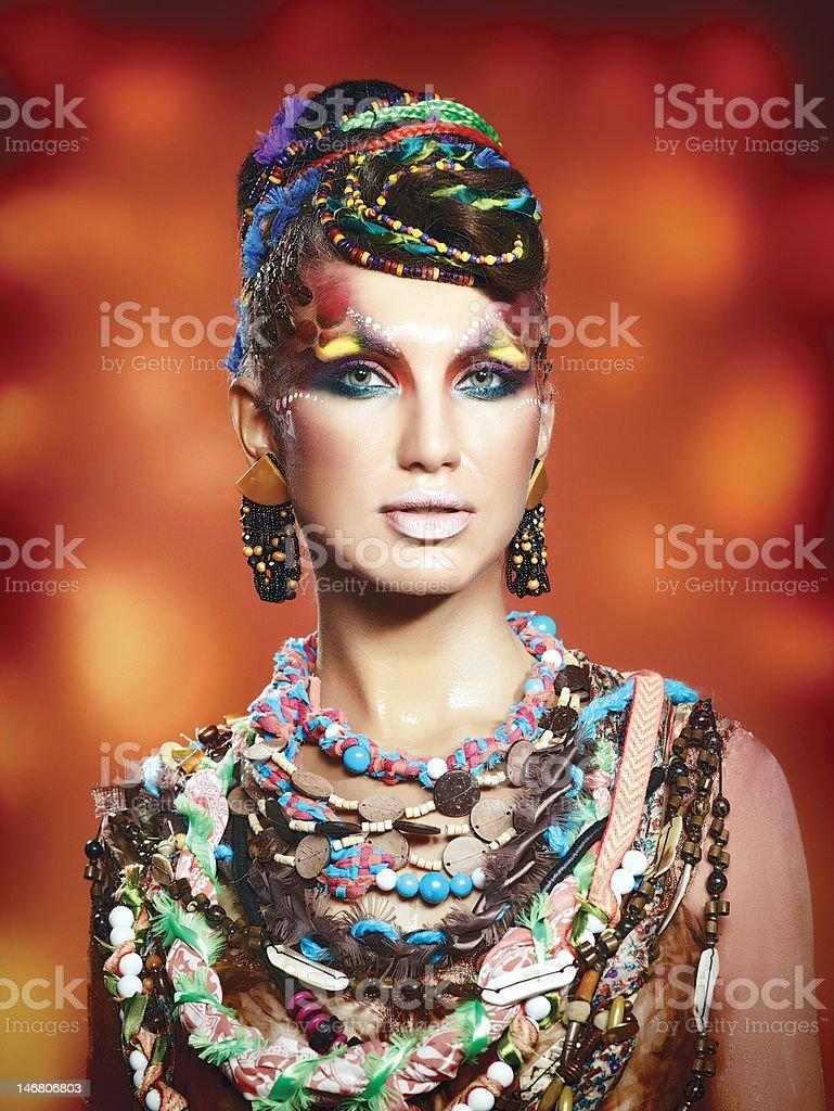 Face Art make-up royalty-free stock photo