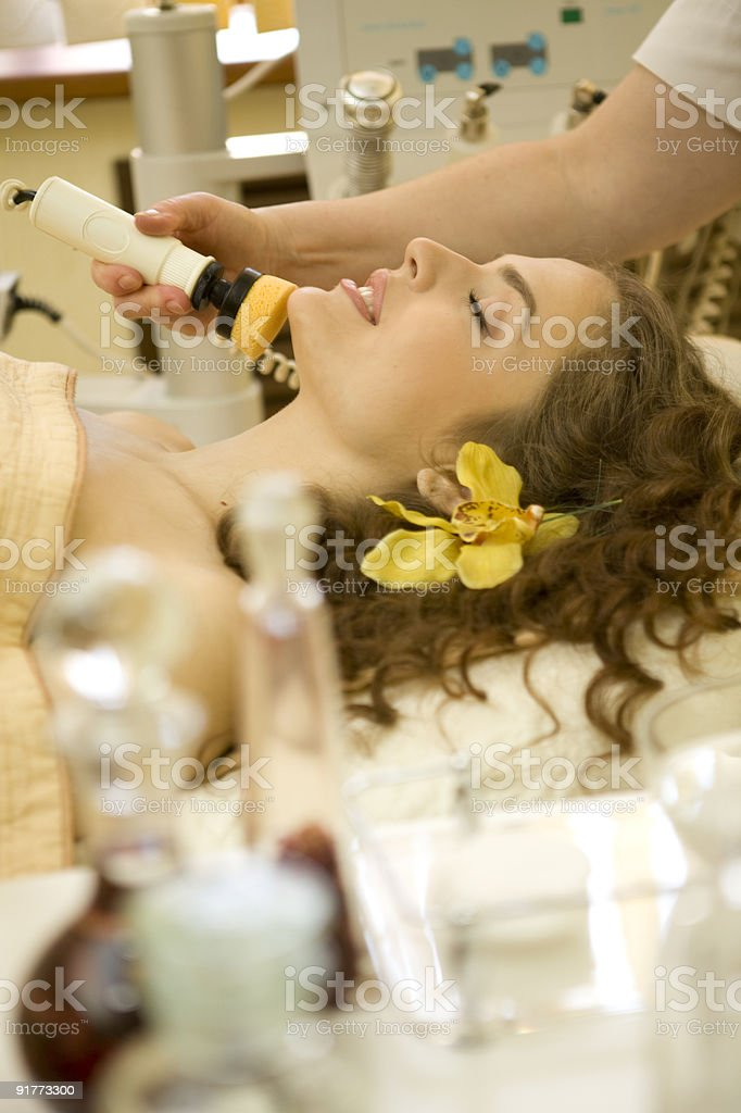 Face cleaning.XXXL royalty-free stock photo