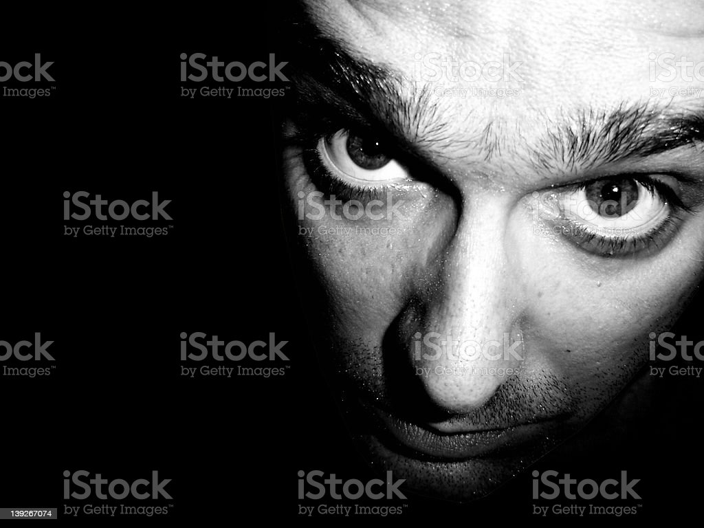 Face Close-up Black and White stock photo