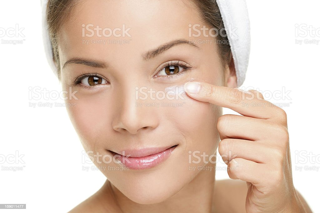 Face cream woman stock photo