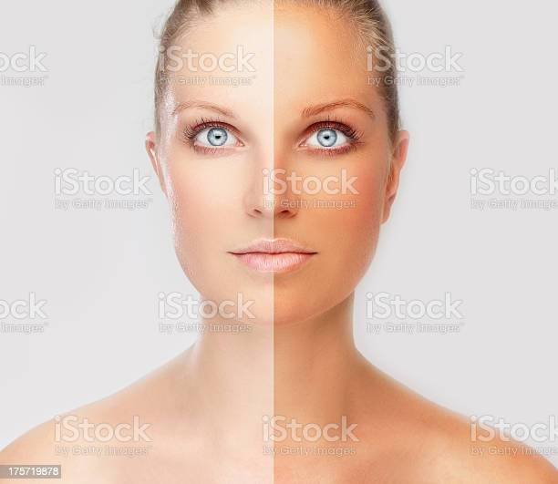 Face divided in two parts tanned and natural picture id175719878?b=1&k=6&m=175719878&s=612x612&h=cgi4wimvm tb0mrnd6fcputtccwra1i 54eit8a2quc=