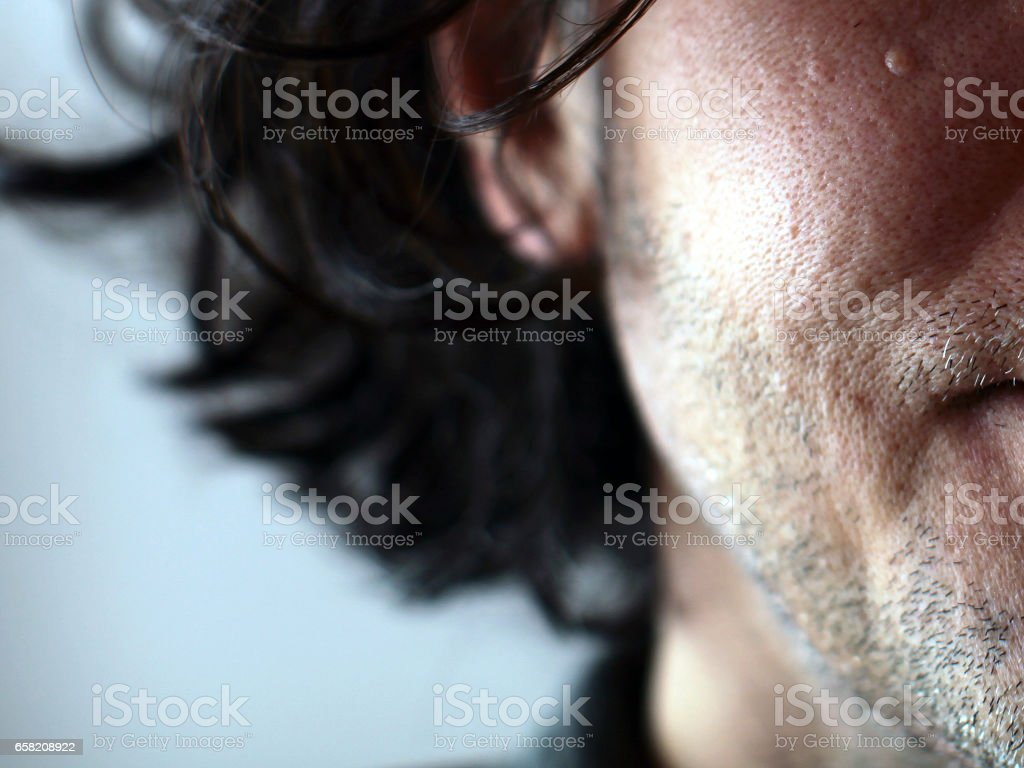 face emotions adult male close up stock photo