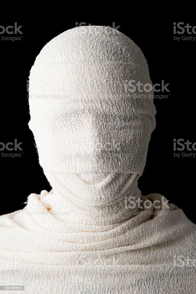 Face Hidden By Bandages stock photo