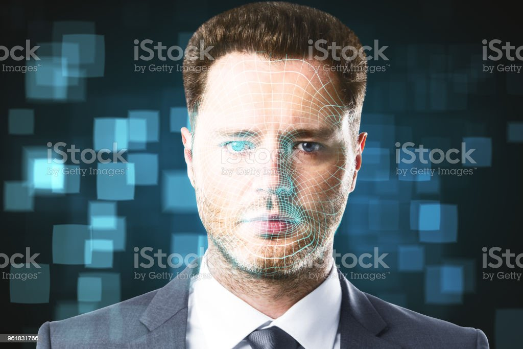 Face ID and technology concept royalty-free stock photo