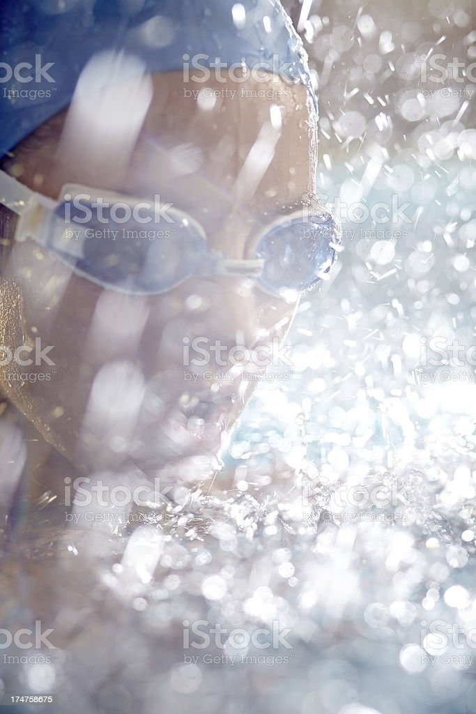 Face in splashes royalty-free stock photo