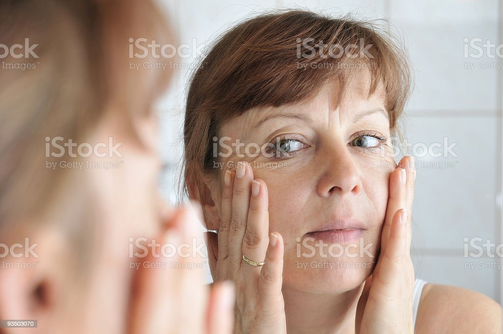 face in the mirror royalty-free stock photo