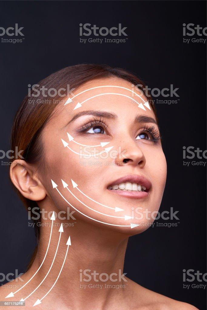 Face lift stock photo
