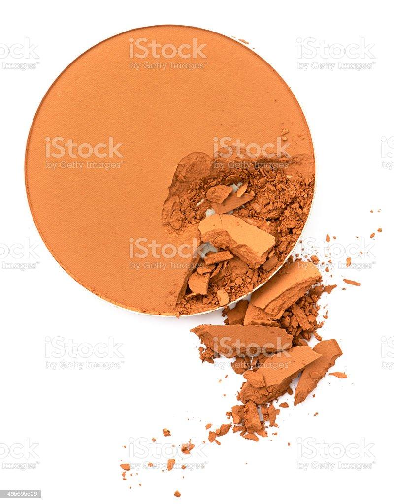 Gesicht make-up Puder gebrochen in Runde Form container – Foto