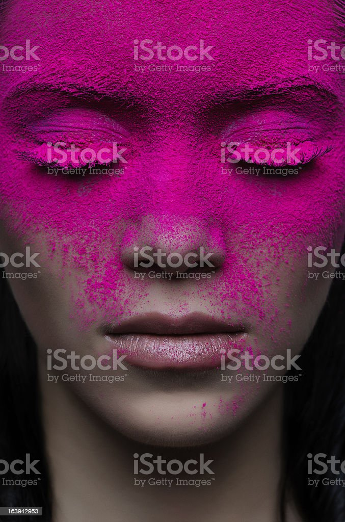 face makeup stock photo