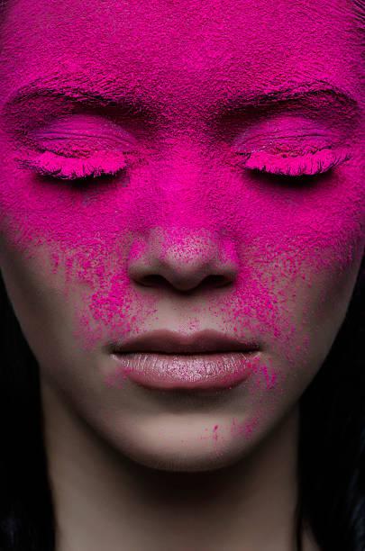 face makeup - magenta stock photos and pictures