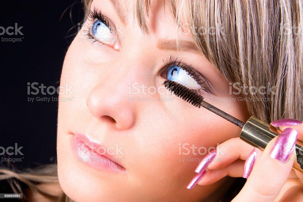 Gesicht make-up Lizenzfreies stock-foto