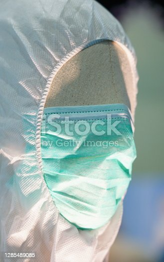 Close-up Face mask for prevent virus contamination or covid-19 on face