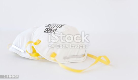 Protective Face Mask on a White  Background