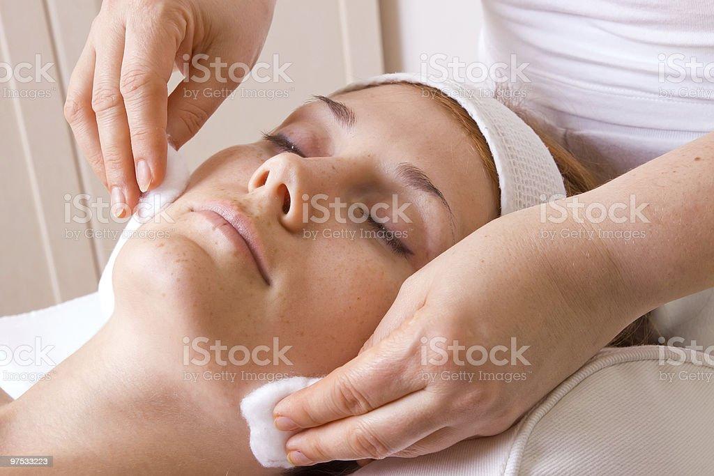 face massage royalty-free stock photo