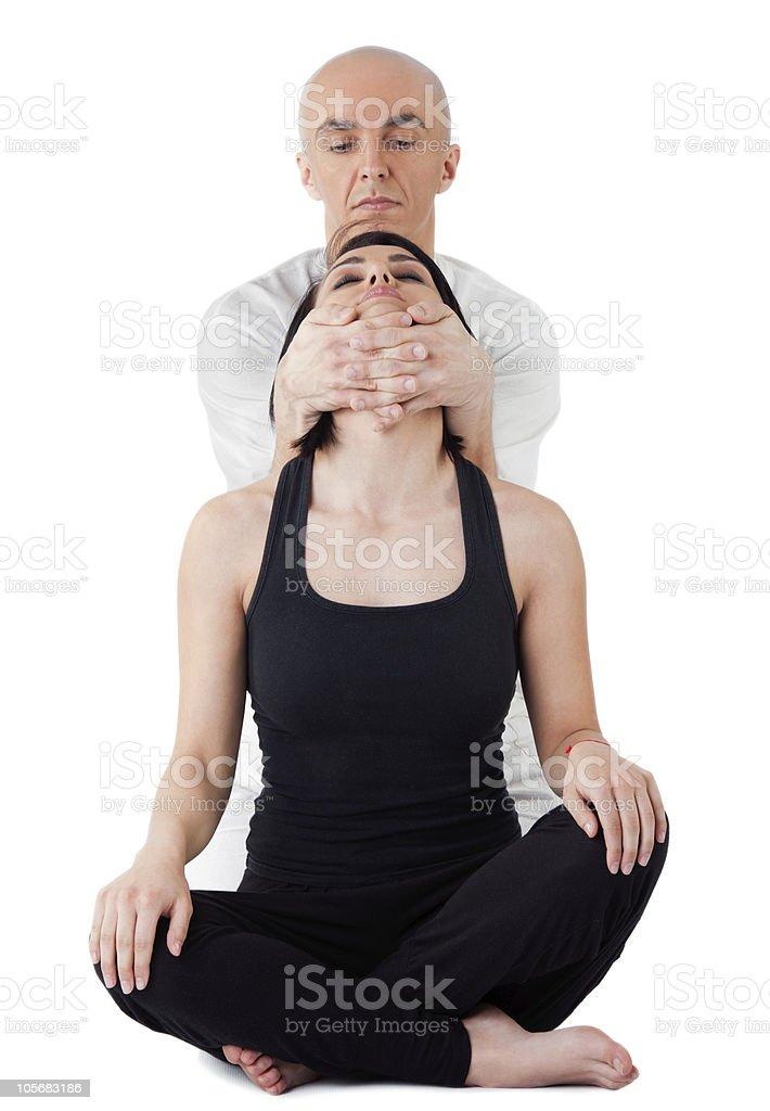 face neck thai massage royalty-free stock photo