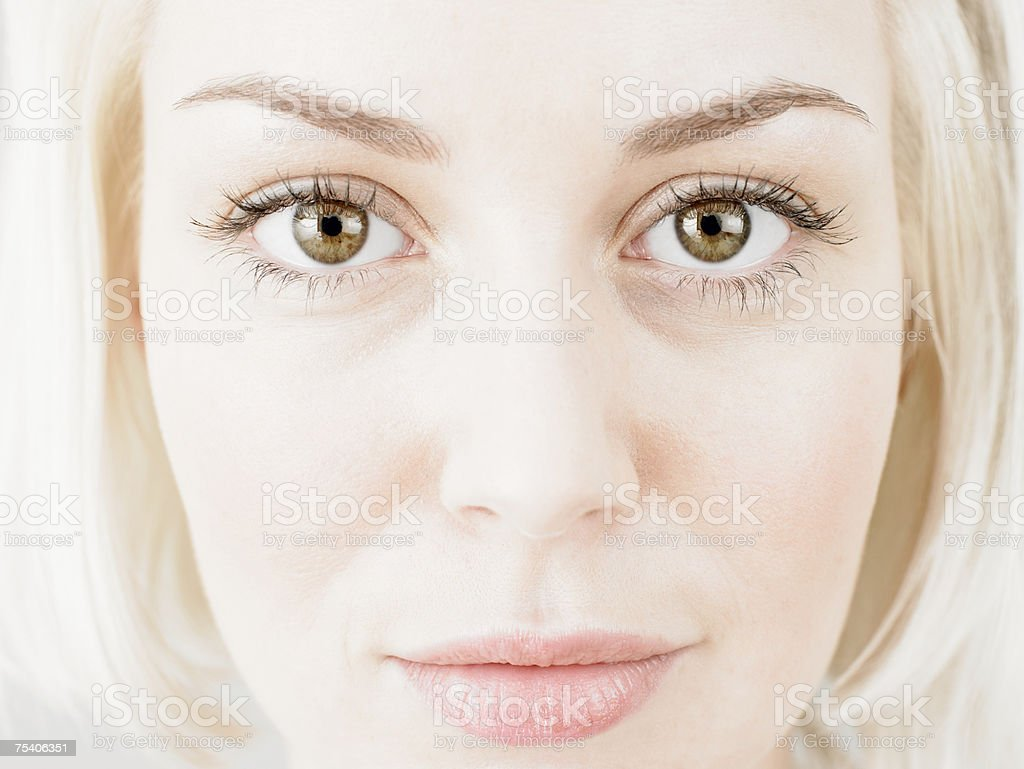Face of a young woman foto de stock royalty-free