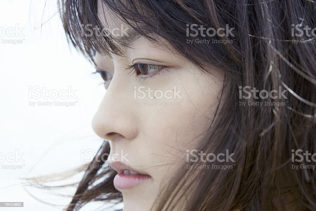 Face of a young woman 免版稅 stock photo