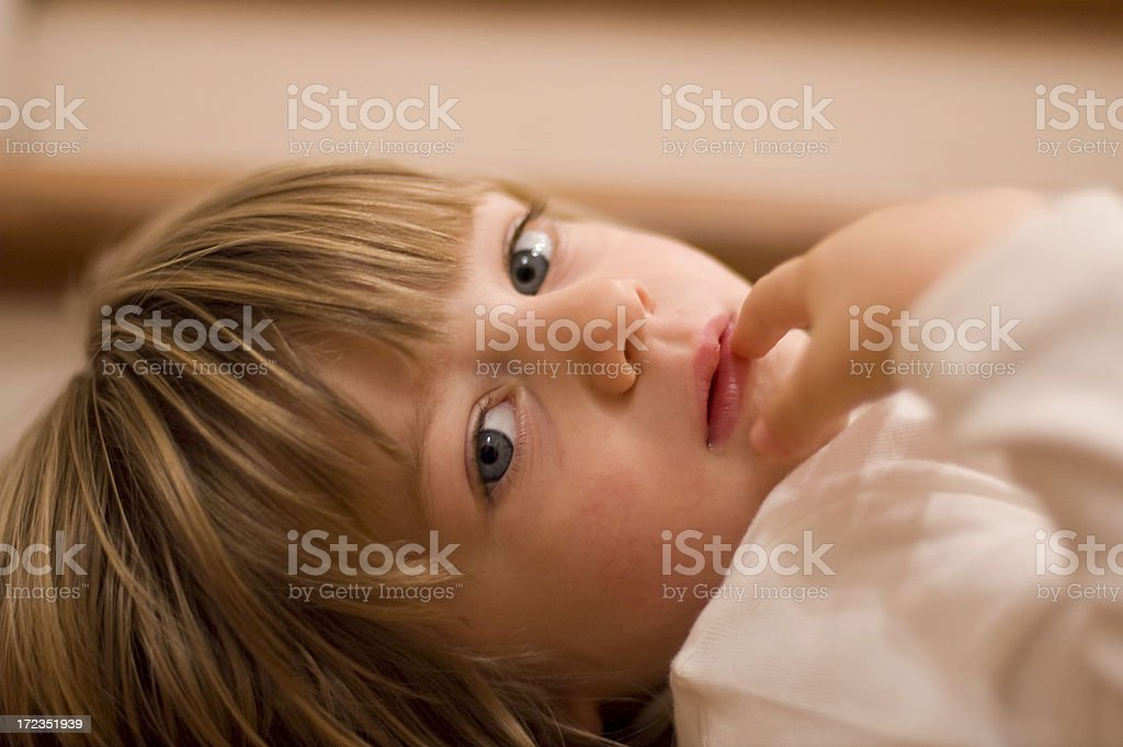 Face of baby royalty-free stock photo