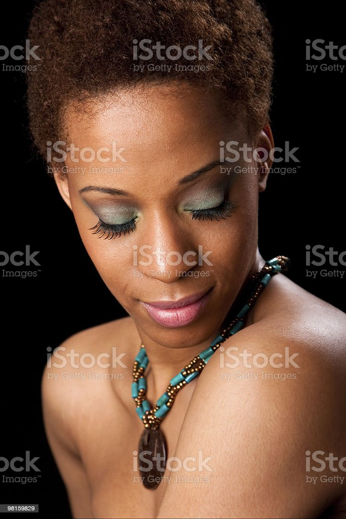 Face of beautiful African woman royalty-free stock photo