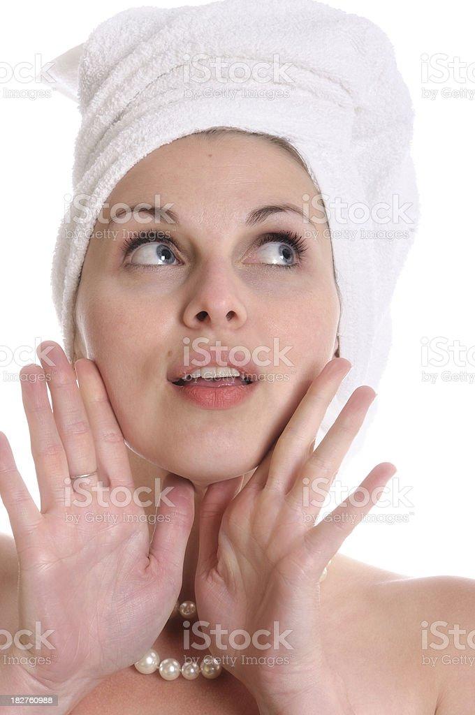 Face of beautiful woman stock photo
