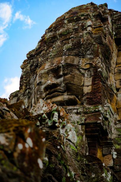 Face of Buddha stock photo