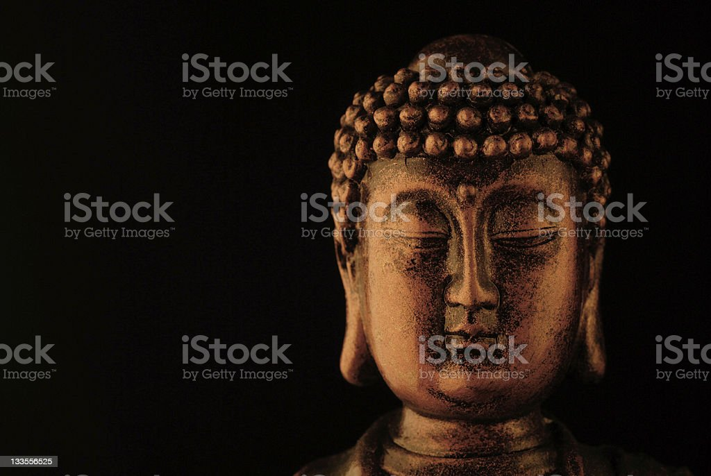 face of Buddha royalty-free stock photo