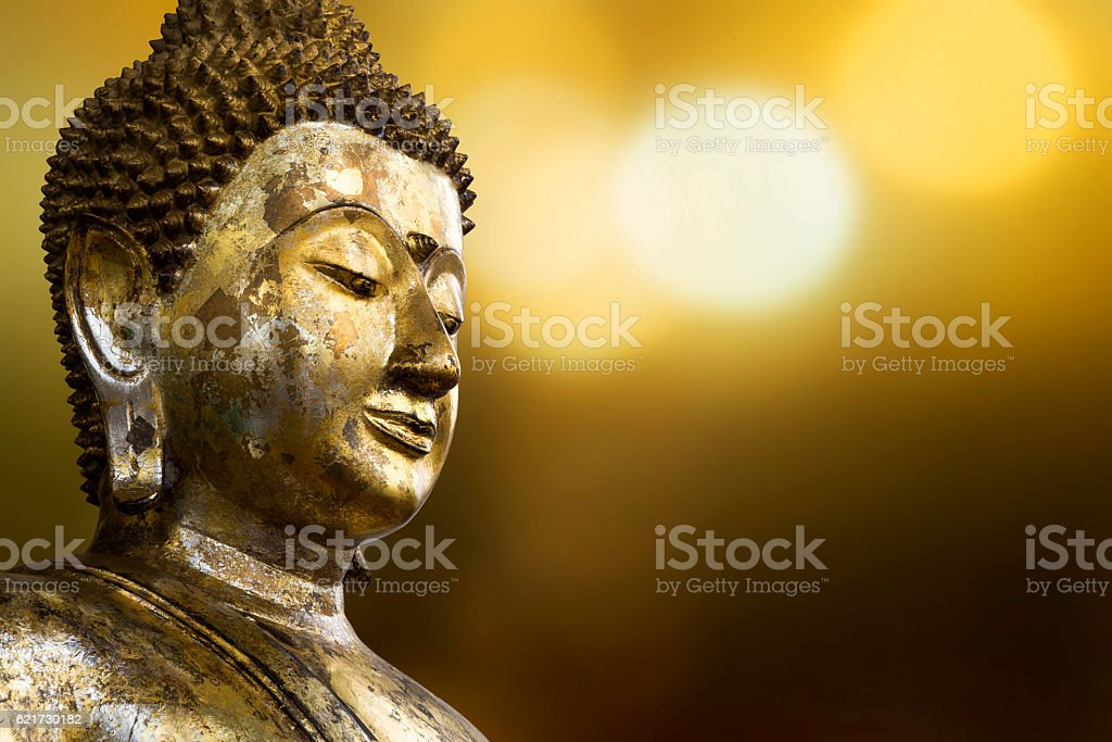 Face of buddha stock photo