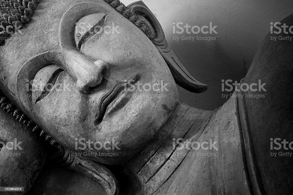 Face of buddha statue royalty-free stock photo
