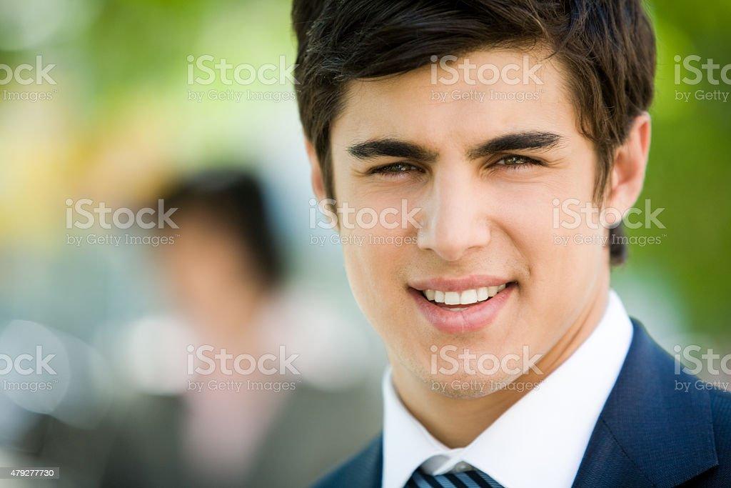 Gesicht von Geschäftsmann Lizenzfreies stock-foto