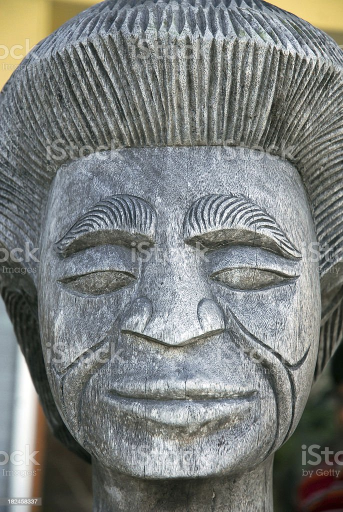 Face of Carving royalty-free stock photo
